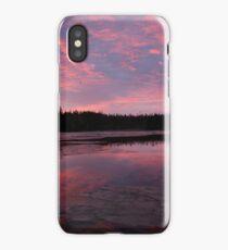 Reflected sunrise on the shore iPhone Case