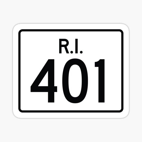 Rhode Island State Route 401 (Area Code 401) Sticker