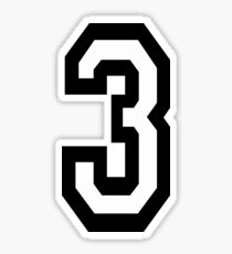 3, TEAM SPORTS, NUMBER 3, THREE, THIRD, Competition, Tri,  Triple Sticker