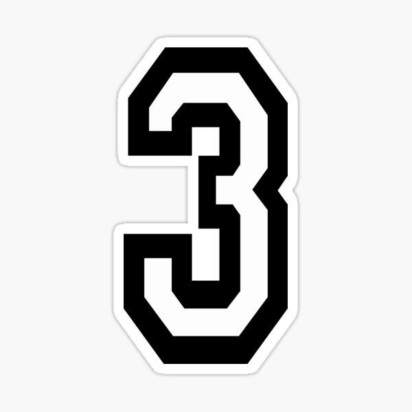 NUMBER 3. TEAM SPORTS, THREE, 3rd, THIRD, Competition, Tri, Triple. Sticker