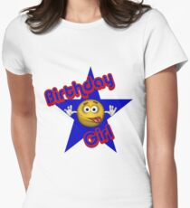 Cute Birthday Girl Smiley Face Women's Fitted T-Shirt