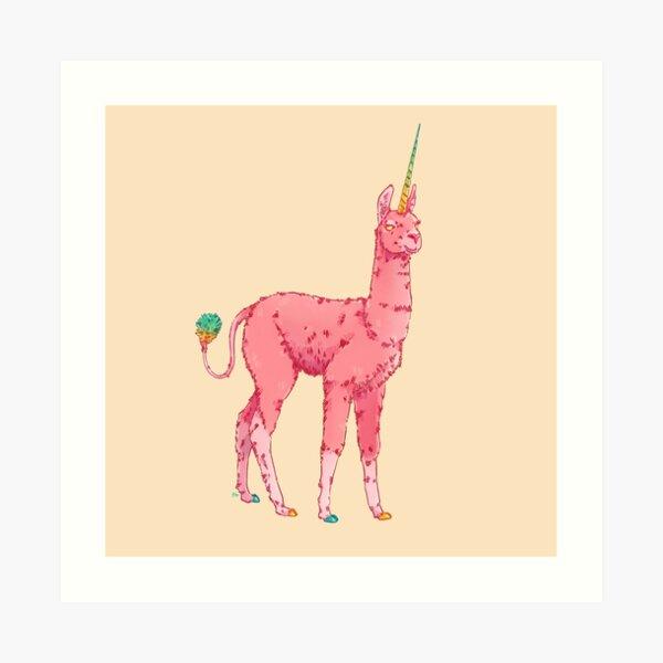 Llamacorn Art Print