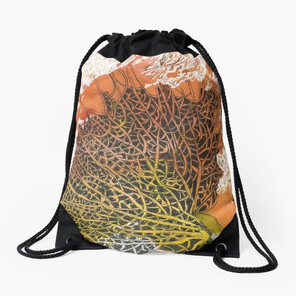 ORIGINAL SEA FAN radical pioneering adventurer  Drawstring Bag