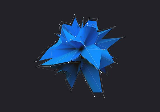 Blue Polygon by error23
