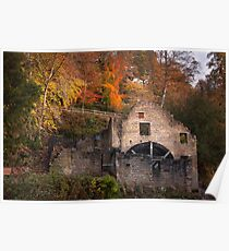 Jesmond Dene Water Mill Poster