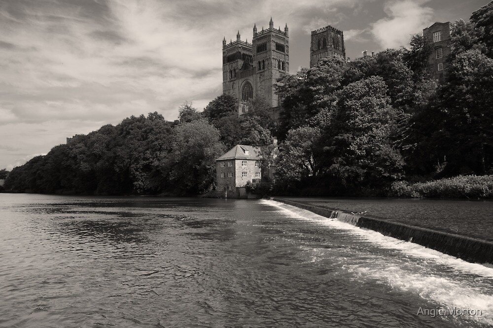 Durham Cathedral and the Mill by Angie Morton