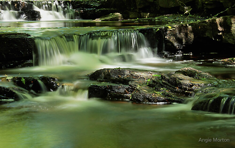 Smooth Water at Summerhill's Force by Angie Morton