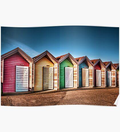 Blyth Beach Huts Poster