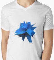 Blue Polygon Men's V-Neck T-Shirt
