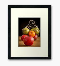 Apple Basket Still Life Framed Print