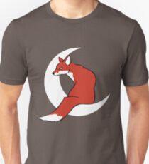 Fox Sits on the Moon T-Shirt