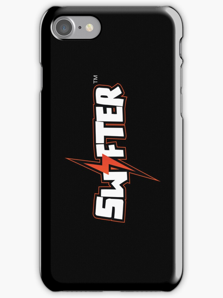 Swifter iPhone/iPod Touch Case - Black Vertical by ChimneySwift11