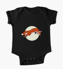 Night Fox Flies over the Moon One Piece - Short Sleeve