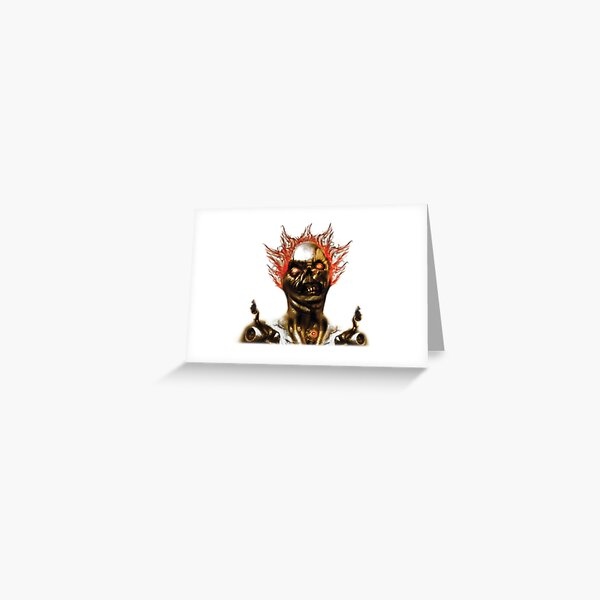 Flaming-Zombie Greeting Card