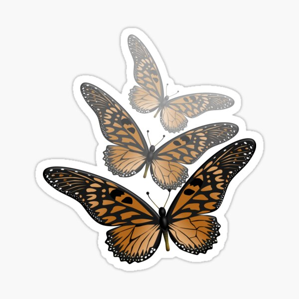 3 Monarchs Sticker