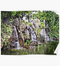 Rocky Walls Waterfall Poster