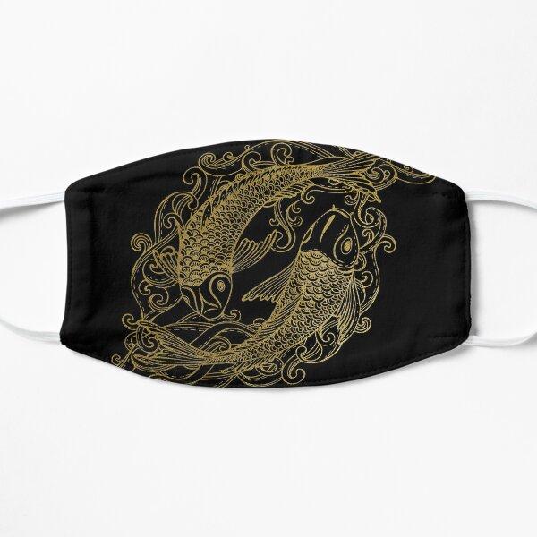 Two Golden Koi Fishes Set Flat Mask