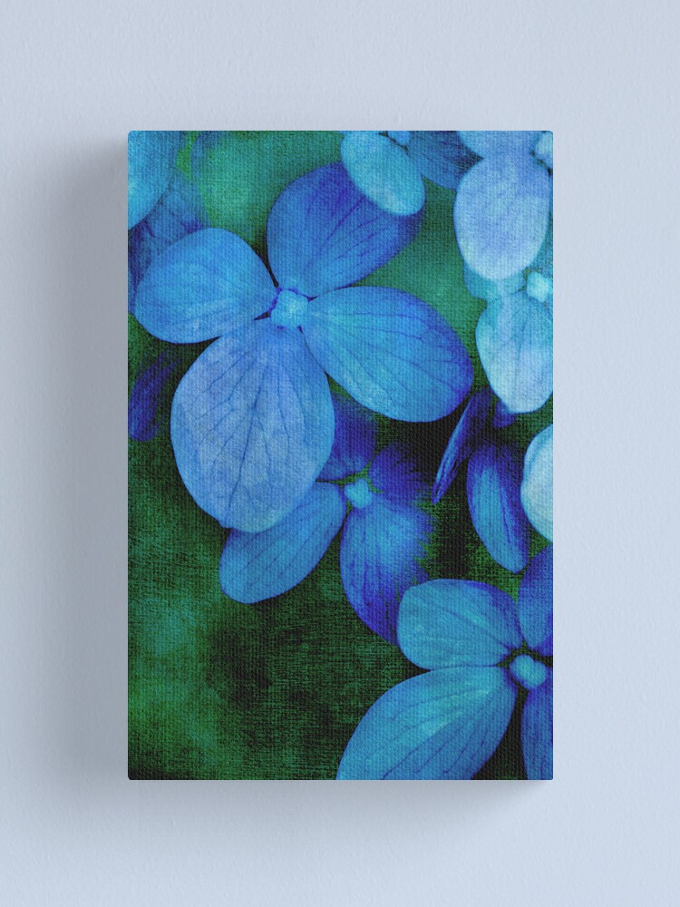 Alternate view of Hydrangea Blues Canvas Print