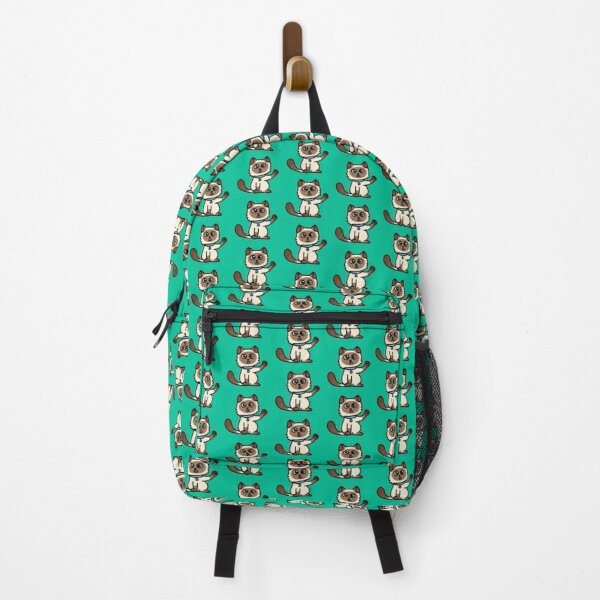 Kitty Says, Stay At Home - Hey you, Stay Home - Siamese Birman Cat - mydoodlesateme Backpack