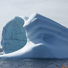 Iceberg light and shadow by Jean Knowles