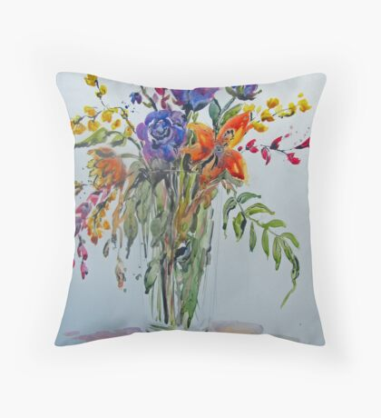 Found Flowers Throw Pillow