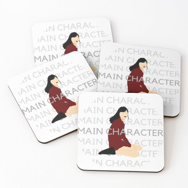 Main Character Girl Coasters (Set of 4)