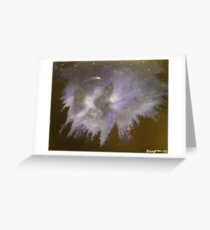 Night in the forrest Greeting Card