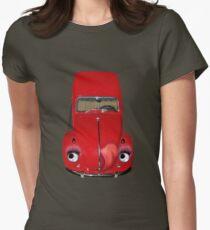 ㋡  CAR VOLKS WAGON BUG TEE SHIRT (GLAMOUR BUG)㋡ Womens Fitted T-Shirt