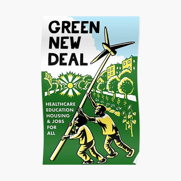 green new deal posters Poster