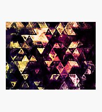 triangle impressionism Photographic Print