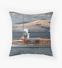 Steam Yacht Preana Throw Pillow