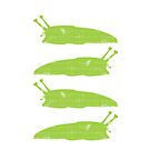 Happy Green Slug by RedPine