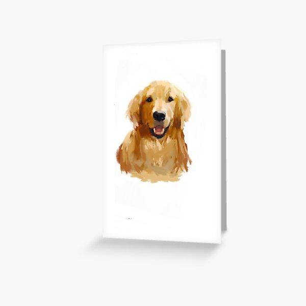 Golden Retriever Printable Greeting Card Golden Retriever Thank You Card Watercolor Stationery Golden Retriever Card Good as Gold,Print