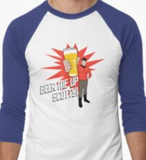 Beer Me Up Scotty Men's Baseball ¾ T-Shirt