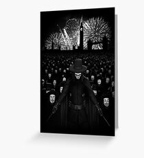 V for Vendetta Greeting Card