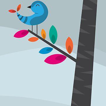 Blue Bird by volkandalyan