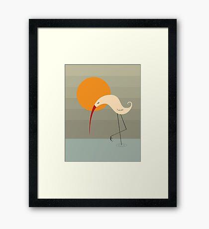 Bird and Sun Framed Print