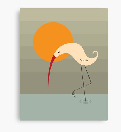 Bird and Sun Canvas Print