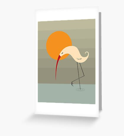 Bird and Sun Greeting Card