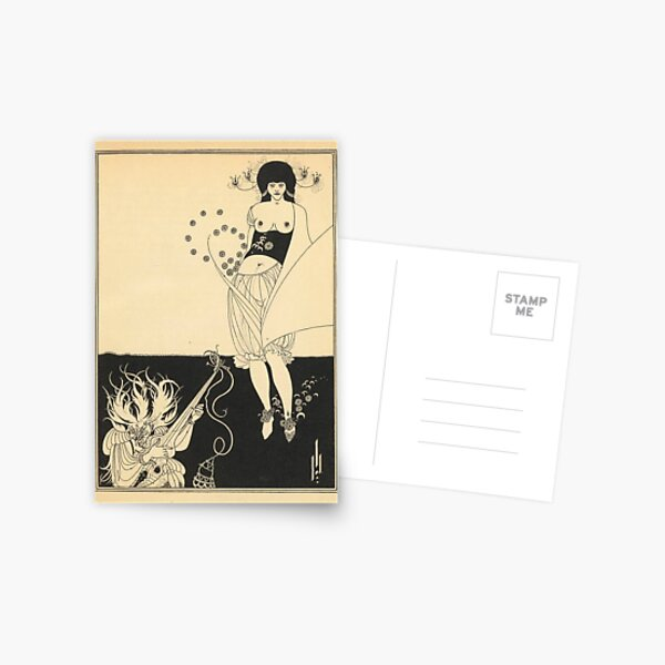 AUBREY BEARDSLEY Salome Oscar Wilde - The Stomach Dance Postcard