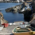 Boats on the slip, Pouch Cove by Jean Knowles