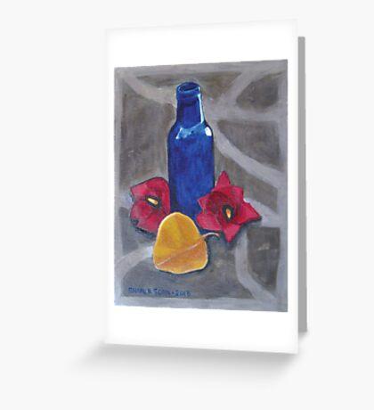 Buck's Blue Bottle Greeting Card
