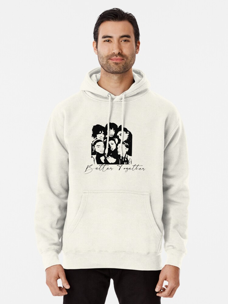 Alternate view of Better Together Cultural Diversity, Racial equality, Social Justice, Strong women, Black women, Women's Empowerment Pullover Hoodie