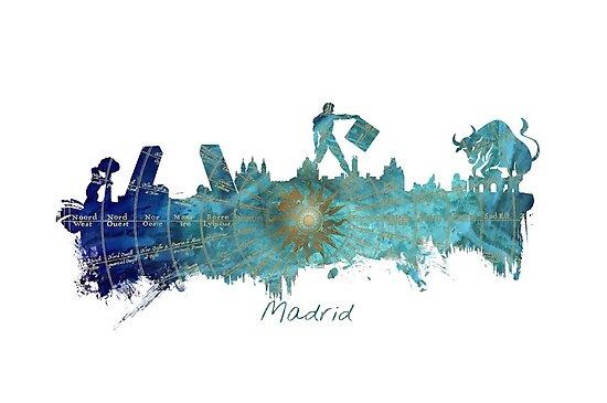 Madrid skyline  by JBJart
