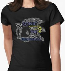 Sonic - City Escape Typography Womens Fitted T-Shirt