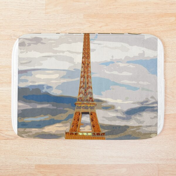 Retro Paris Bath Mats Redbubble