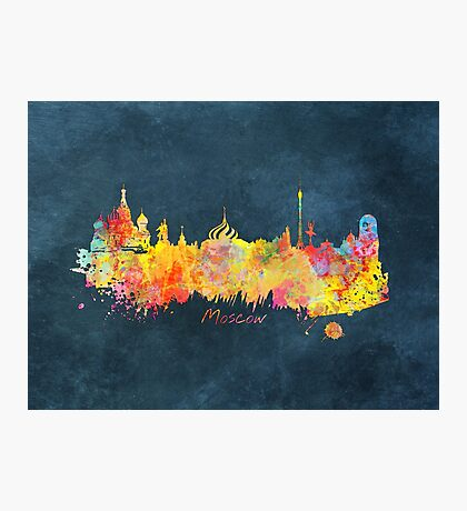 Moscow skyline colored Photographic Print