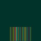 Bar code on green by CatchyLittleArt
