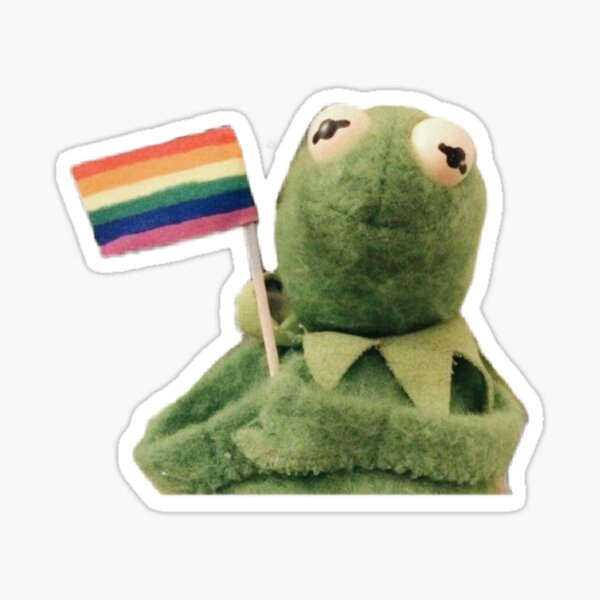 pride flag kermit Sticker