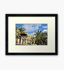 Plaza Real Framed Print